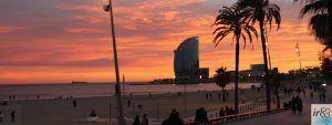 puesta de sol Paseo Marítimo Barcelona