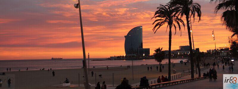 puesta de sol Paseo Marítimo