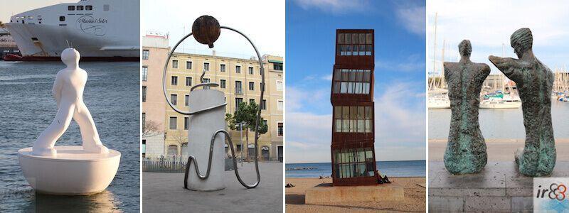 esculturas urbanas en Barcelona