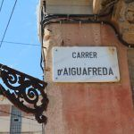 placa Calle de Aiguafreda