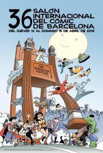 cartel 2018 Salón Internacional del Cómic de Barcelona