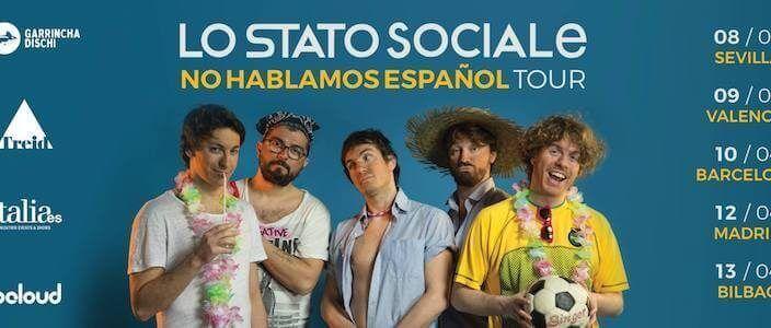 Lo Stato Sociale en concierto en la Sala Bikini de Barcelona