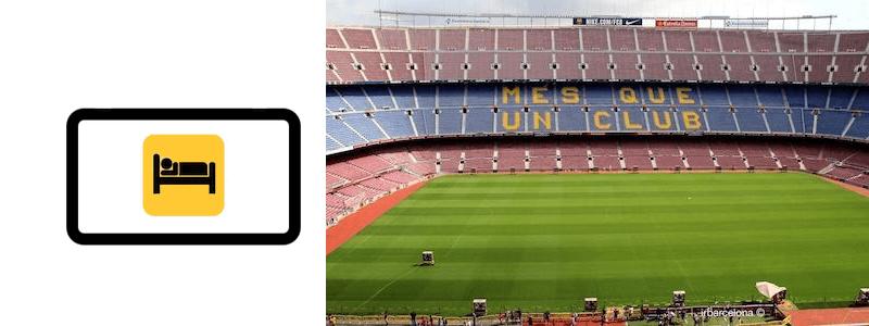 hoteles, apartamentos y alojamientos Camp Nou