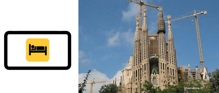 hoteles, apartamentos y alojamientos Sagrada Familia