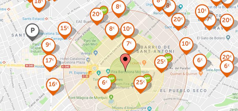 parking Feria de Montjuïc