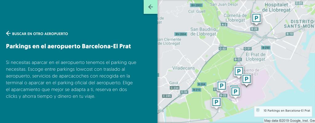 Parkings Aeropuerto de Barcelona
