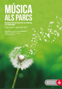 cartell Música als Parcs 2019